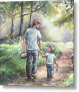 Fishing With My Dad  Metal Print by Laurie Shanholtzer