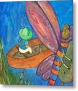 Fishing With Rose Marie Metal Print