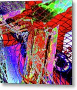 Fishnet Fantasy, A Collage Between Maine And Florida. Metal Print
