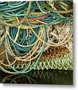 Fishnets And Ropes Metal Print