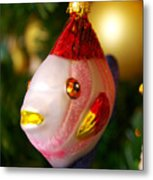 Fishy Ornament Metal Print by Jera Sky