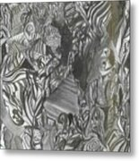 Fist Doodle Metal Print