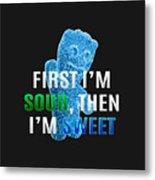 Fist I'm Sour Metal Print