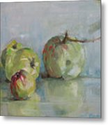 Five Apples Metal Print