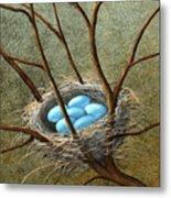 Five Blue Eggs Metal Print