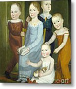 Five Children Of The Budd Family Metal Print