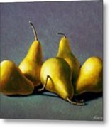 Five Golden Pears Metal Print