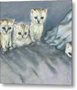Five Kitties Metal Print
