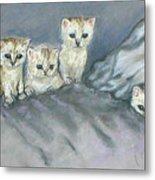 Five Kitties Metal Print