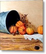 Five Little Pumpkins Metal Print