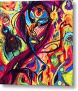 Raven Masquerade Metal Print