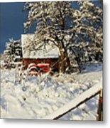 Five Mile Winter's Barn #9862 Metal Print