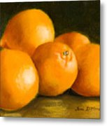 Five Oranges Metal Print