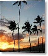 Five Palms Maui Hawaii Metal Print