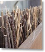 Five, Six Pick Up Sticks Metal Print