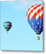 Flag Balloon Metal Print