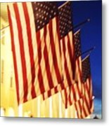 Flag Congress Hall Cape May Nj Metal Print