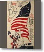 Flag Day 1917 Metal Print