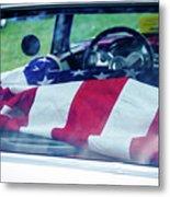Flag In The  1955 Chevy Bel Air Metal Print