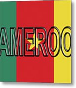 Flag Of Cameroon Word. Metal Print