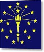 Flag Of Indiana Metal Print