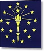 Flag Of Indiana Wall Metal Print