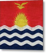 Flag Of Kiribati Texture Metal Print