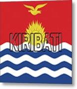 Flag Of Kiribati Word Metal Print