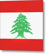 Flag Of Lebanon Wall Metal Print