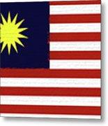 Flag Of Malaysia Wall. Metal Print