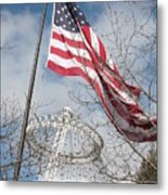 Flag Over Spokane Pavilion Metal Print