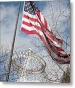Flag Over Spokane Pavilion Metal Print