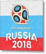 Flag Russia World Cup Metal Print