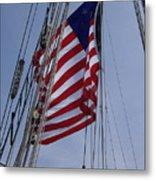 Flag Tall Ship Metal Print
