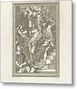 Flagellation Of A Saint Metal Print