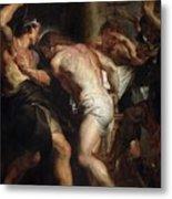 Flagellation Of Christ 2 Peter Paul Rubens Metal Print