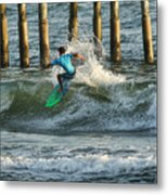 Flagler Beach Surf Day Metal Print