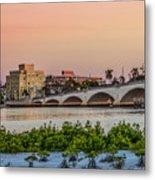 Flagler Bridge In The Evening I Metal Print