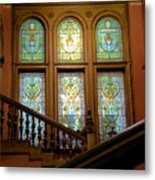 Flagler College Stained Glass Metal Print