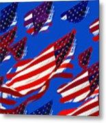 Flags American Metal Print
