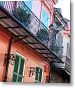 Flags On The Balcony Metal Print