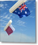 Flags Over Doha For The Asian Cup Metal Print