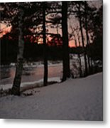 Flambeau Sunset Metal Print