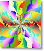 Flamboyant Fractal Fire Flower Metal Print