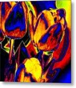 Flamboyant Tulips Metal Print