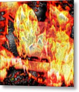 Flame Gems Metal Print