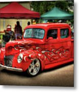 Flame Hot Truck Metal Print