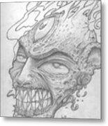 Flamehead  Metal Print