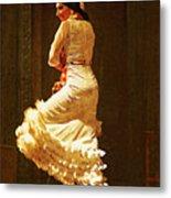 Flamenco Dancer #20 - The White Dress Metal Print