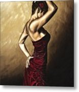 Flamenco Woman Metal Print